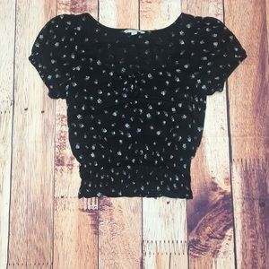 American Eagle Outfitters Floral Crop Top , Small